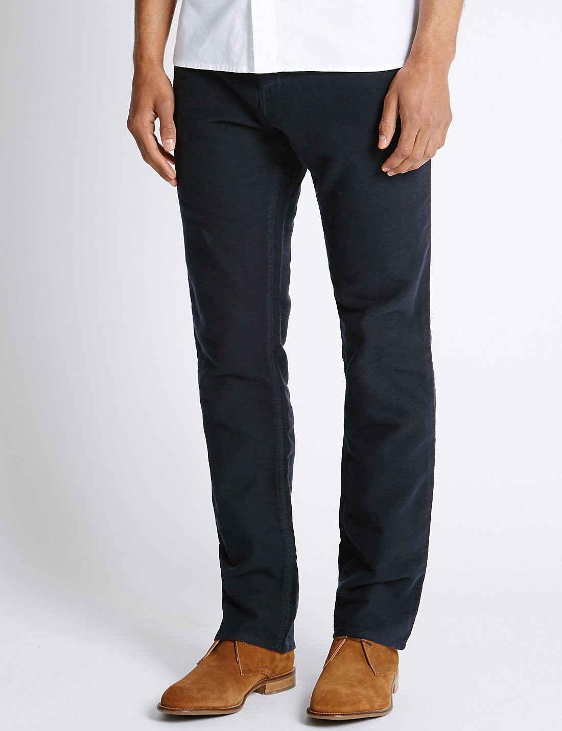 Saf Pamuklu Regular Fit Moleskin Pantolon