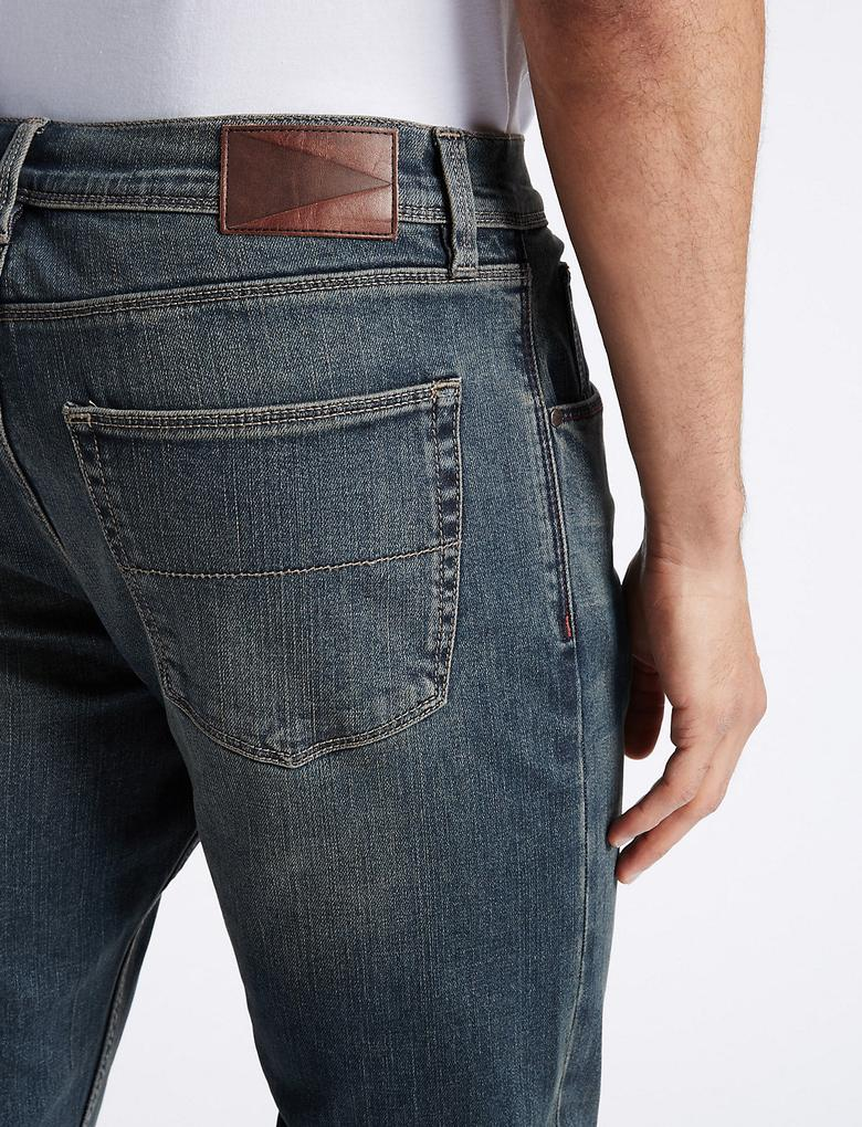 Regular Fit Streç Denim Pantolon