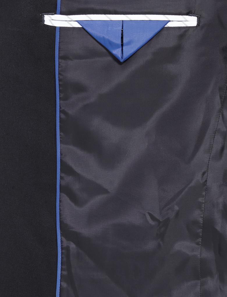 Erkek Lacivert Lacivert Regular Fit Ceket