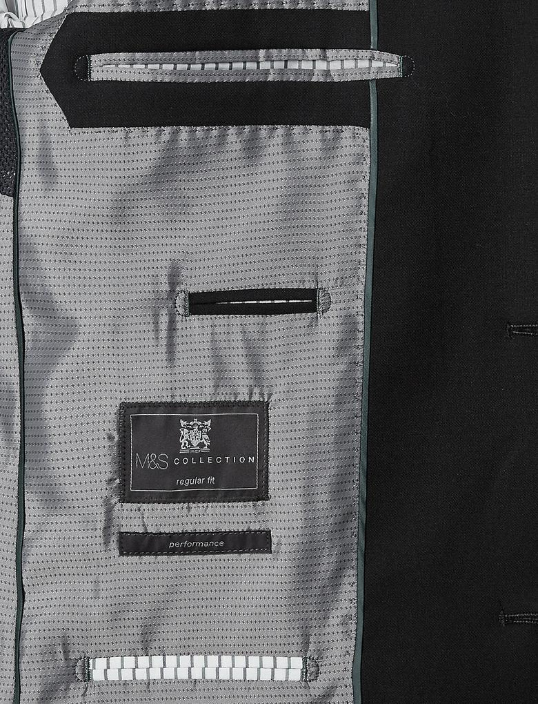 2 Düğmeli Odegona'lı Performance Yün Karışımlı Blazer Ceket