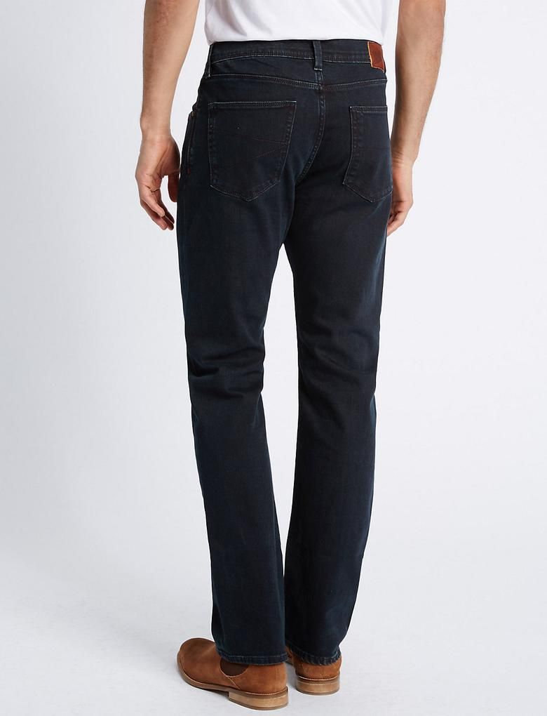 Regular Fit Streç Denim Pantolon