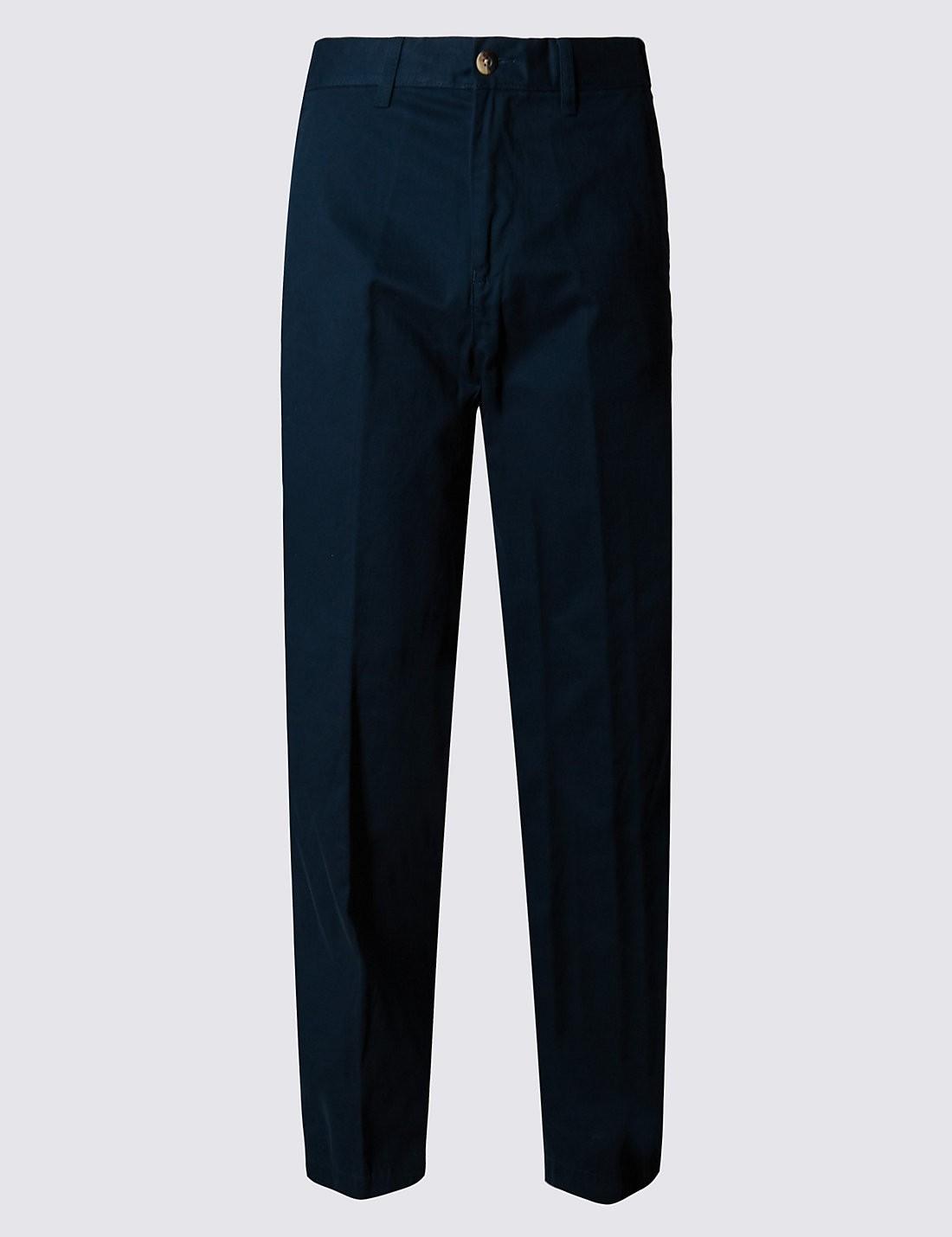Saf Pamuklu Regular Fit Chino Pantolon