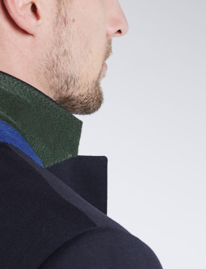 2 Düğmeli Yün Karışımlı Blazer Ceket