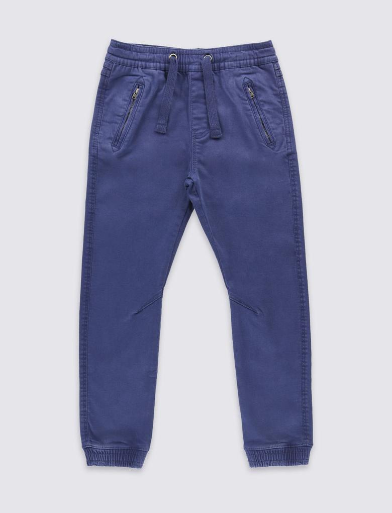 Lacivert Bol Pamuklu Pull On Pantolon (3 - 14 Yaş)