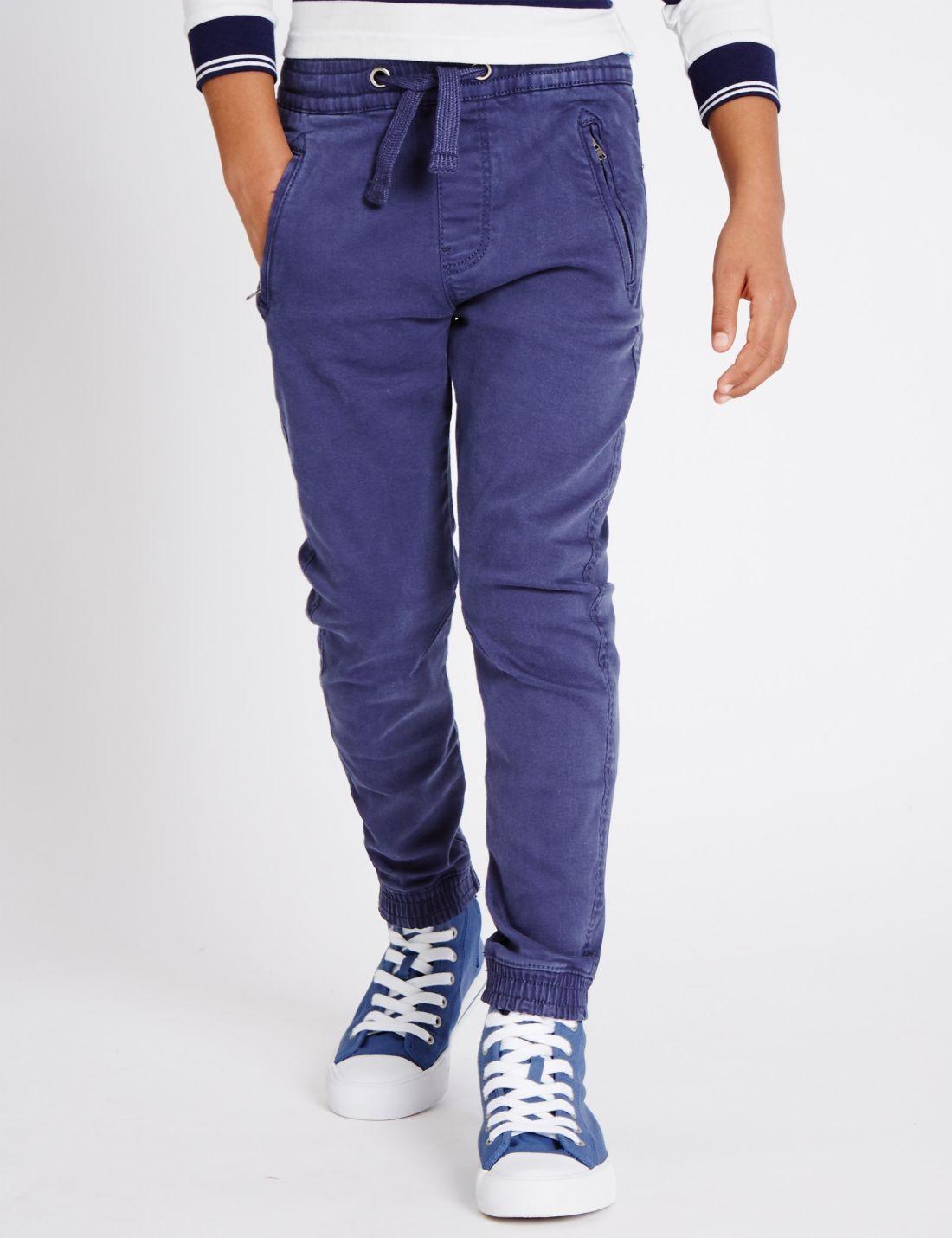 Bol Pamuklu Pull On Pantolon (3 - 14 Yaş)