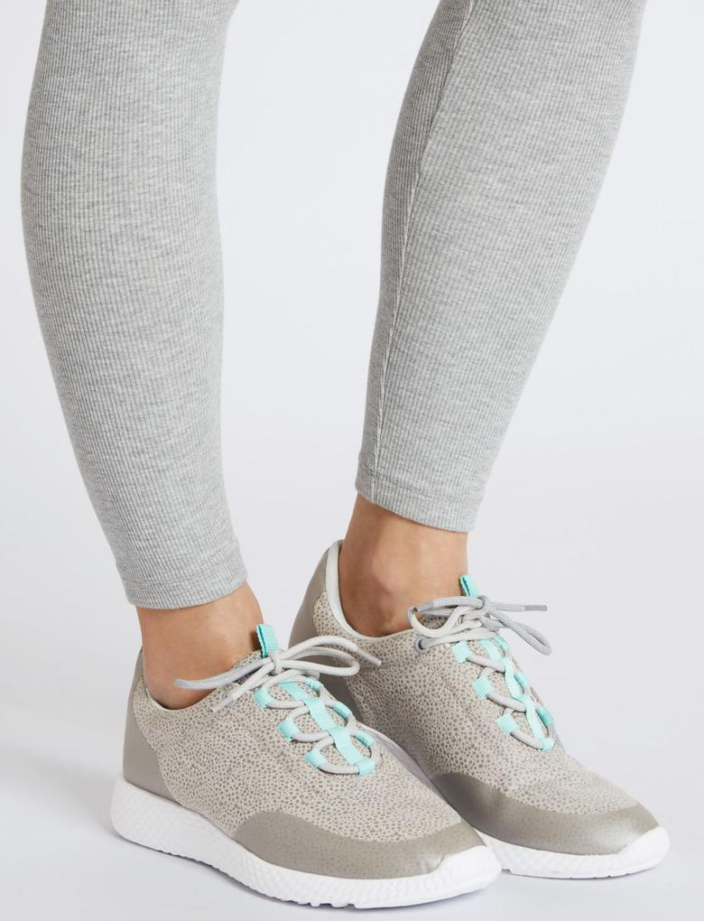 Gri Bağcıklı Active Spor Ayakkabı