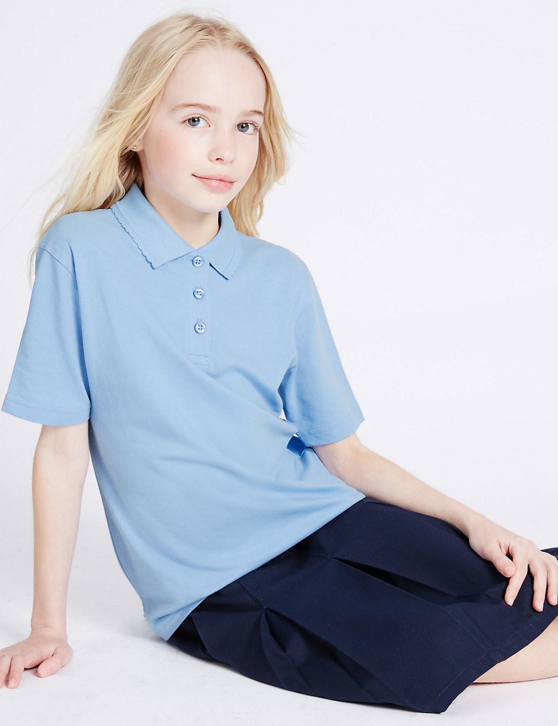 2'li Pure Cotton Polo Yaka T-Shirt