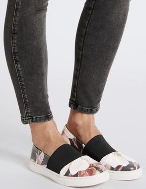 Kadın Multi Renk Elastik Bantlı Bağcıksız Ayakkabı