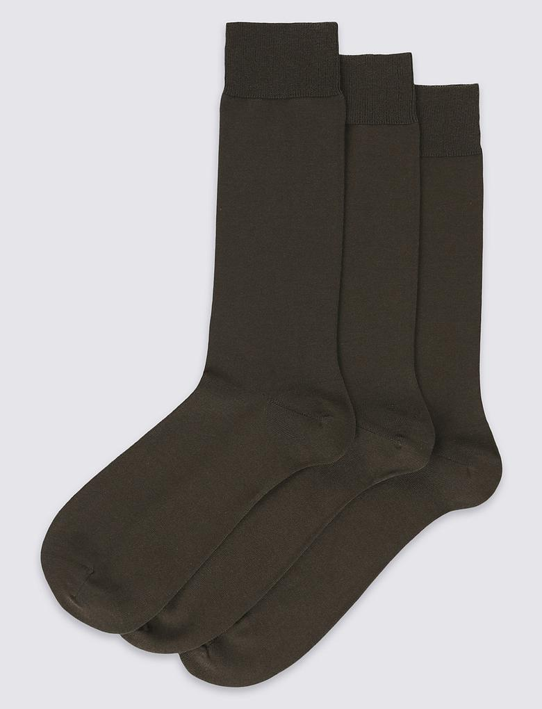 3'lü Egyptian Cotton Çorap