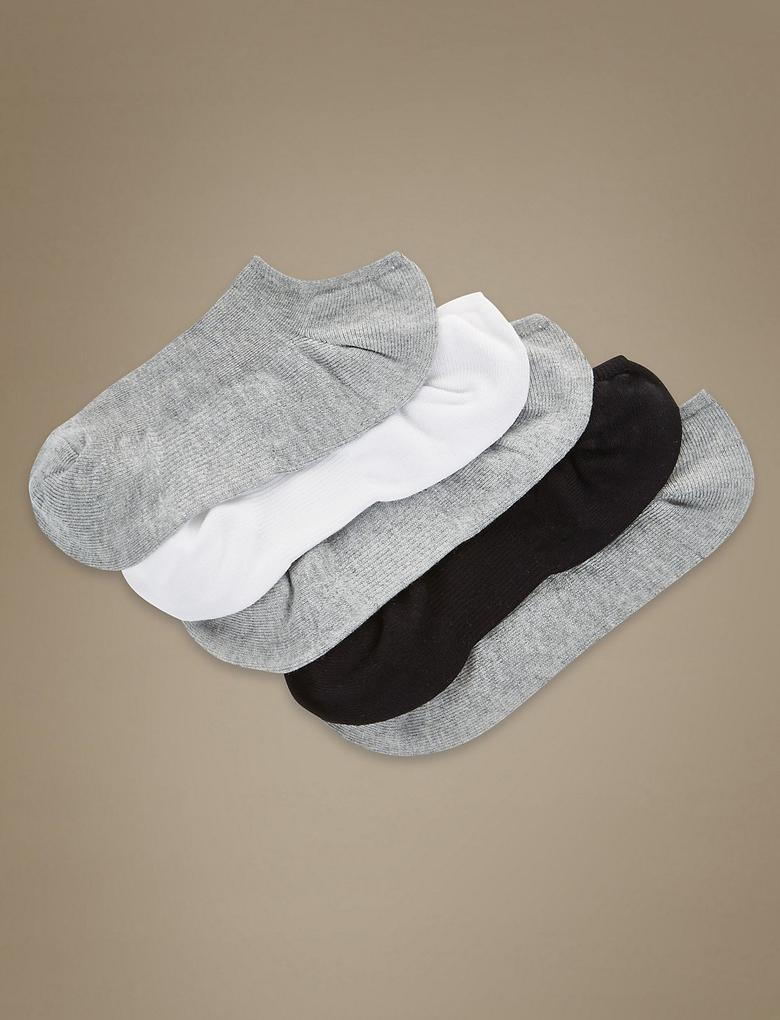 Kadın Gri 5'li Çorap Seti (Silver Teknolojisi ile)
