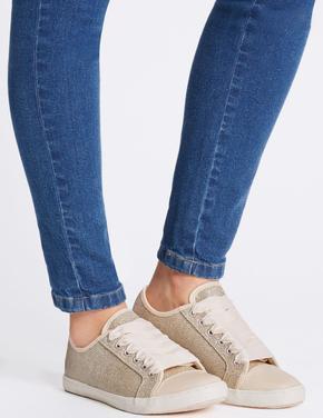 Pırıltılı Bağcıklı Spor Ayakkabı