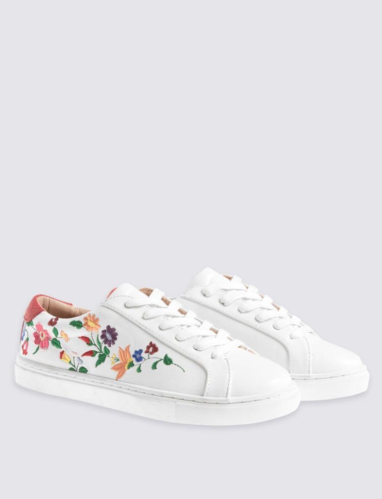 Çiçekli Spor Ayakkabı
