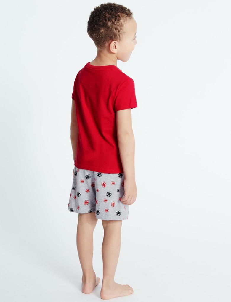 Saf Pamuklu Spider Man Şort Pijama (9 Ay - 8 Yaş)