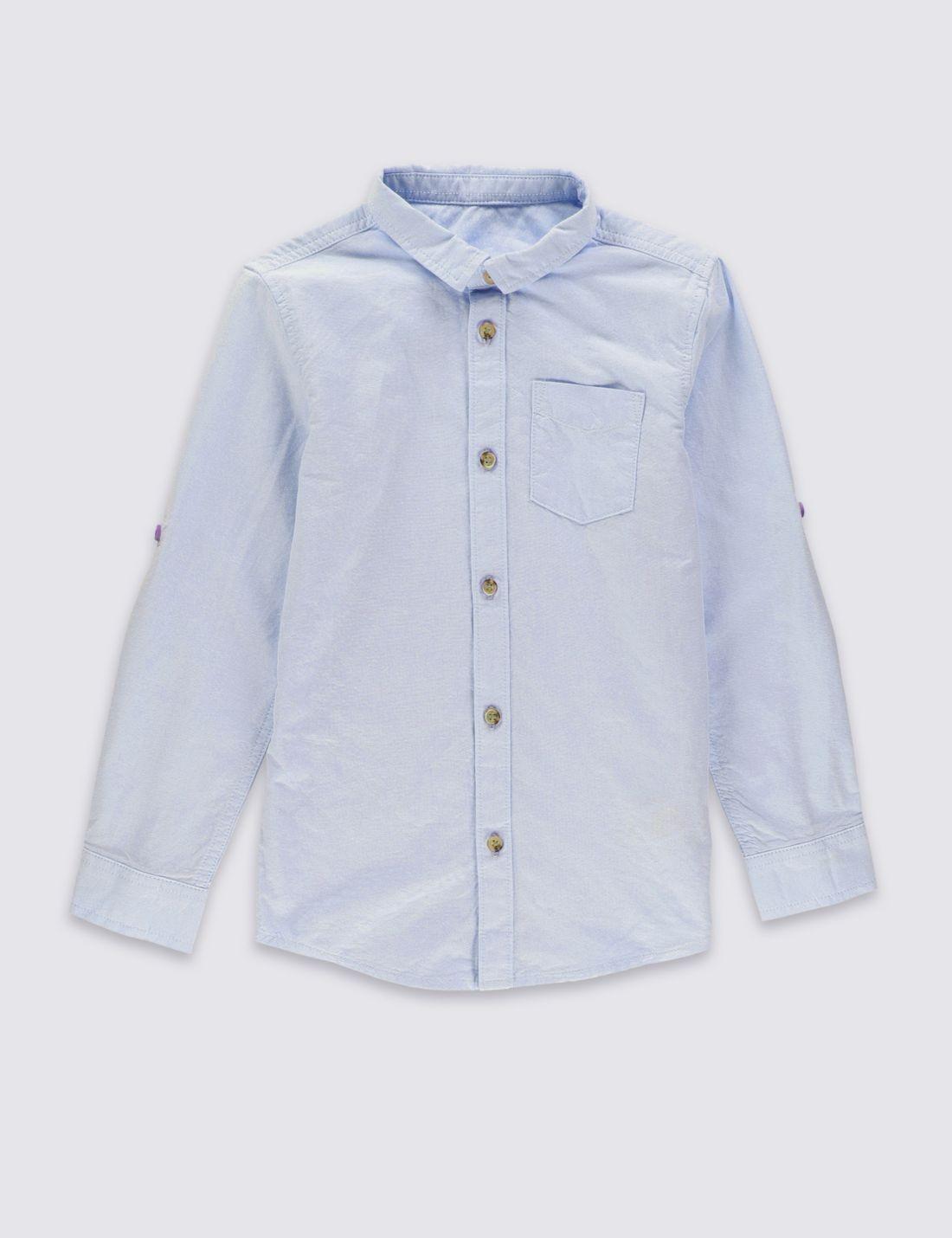 Saf Pamuklu Gömlek (3 - 14 Yaş)