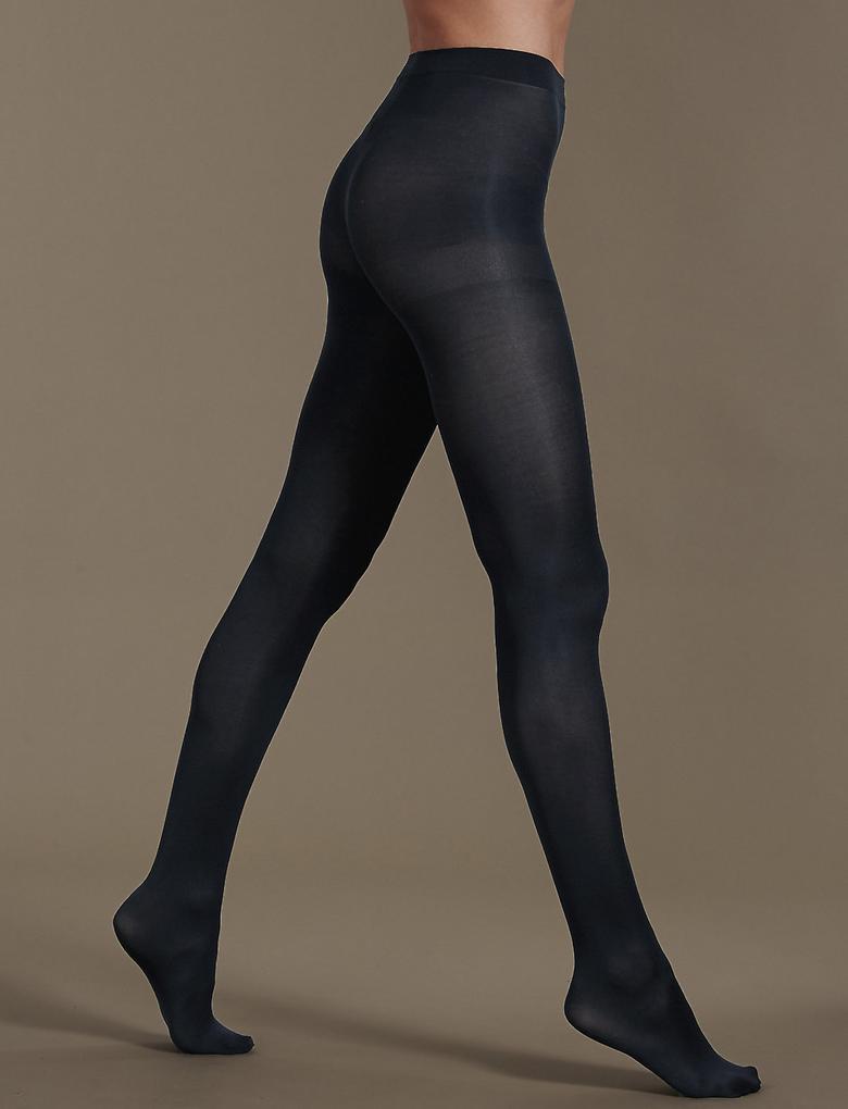 Kadın Lacivert 3'lü 60 Denye Yumuşak Dokulu Opak Külotlu Çorap