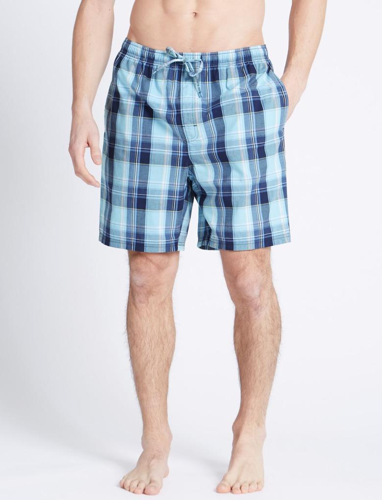 Yeşil 2'li Saf Pamuklu Pijama Altı