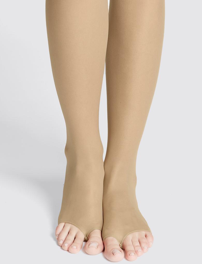 7 Denye Cool Comfort™ Açık Parmak Uçlu Külotlu Çorap