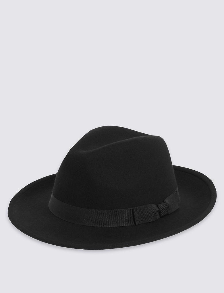Saf Yün Fötr Şapka (Stormwear™ Teknolojileri ile)