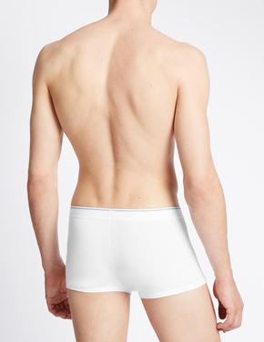 Beyaz 3'lü Cool & Fresh Esnek Pamuklu Hipster Short Külot