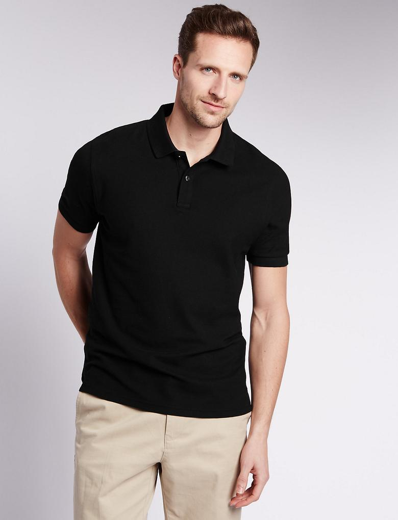 StayNEW™ Pure Cotton Tailored Polo T-Shirt