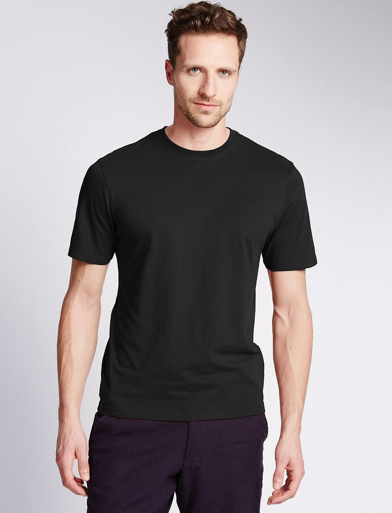 StayNEW™ Stay Soft Tailored Saf Pamuklu T-Shirt