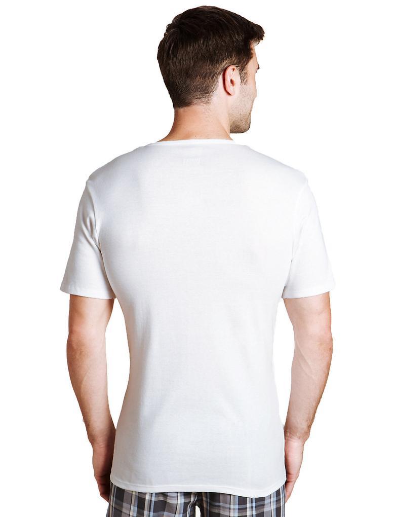 Beyaz 3'lü Saf Pamuklu Sıfır Yaka Atlet