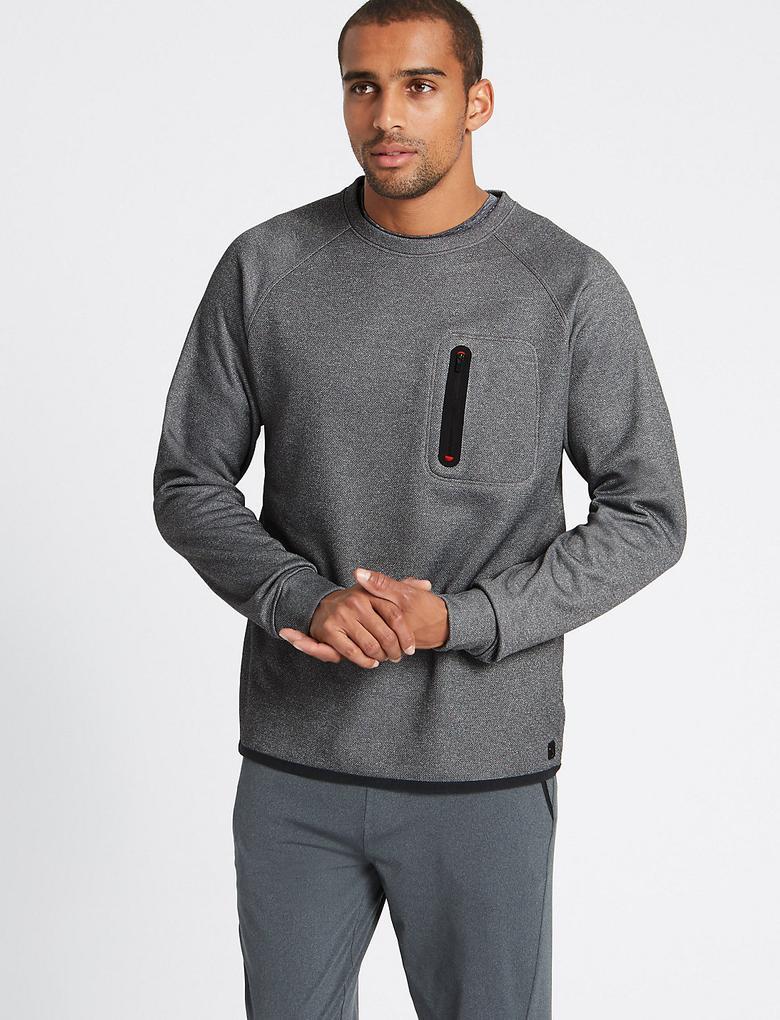 Slim Spor Sweatshirt