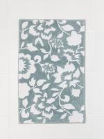 Mavi Çiçek Desenli Banyo ve Klozet Önü Paspası