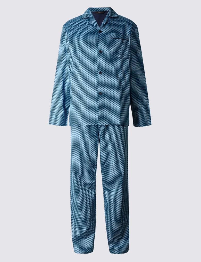 Pure Cotton Desenli Pijama Takımı