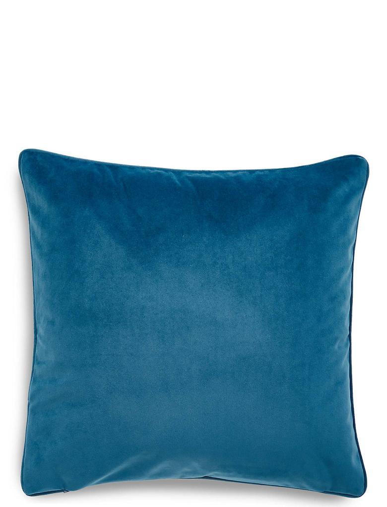 Mavi Dokuma Yastık