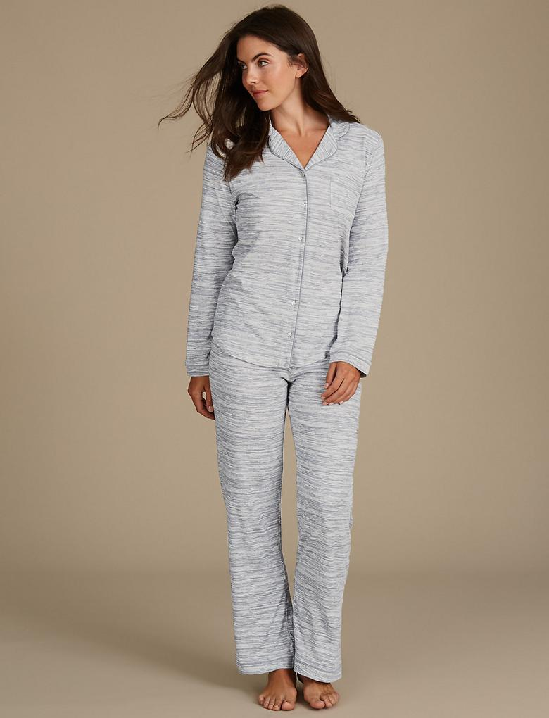 Desenli Modal Pijama (Cool Comfort™ Teknolojisi ile)