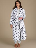 Pamuklu Desenli Uzun Kollu Pijama