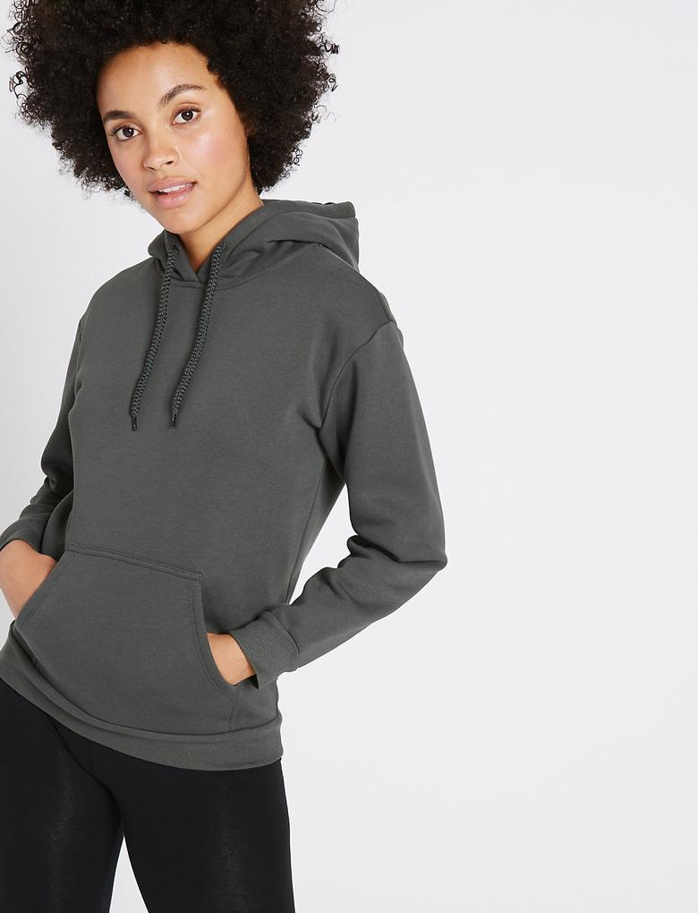 Pamuklu Uzun Kollu Sweatshirt