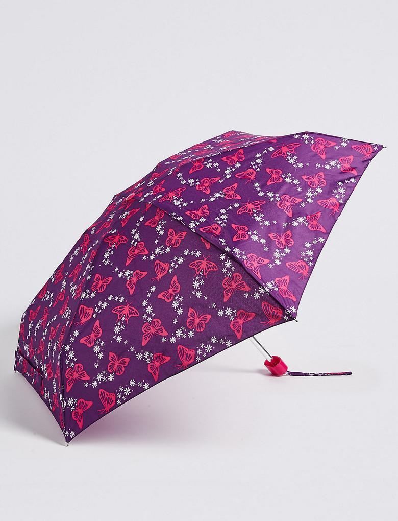 Mor Desenli Kompakt Şemsiye (Stormwear™ Teknolojisi ile)
