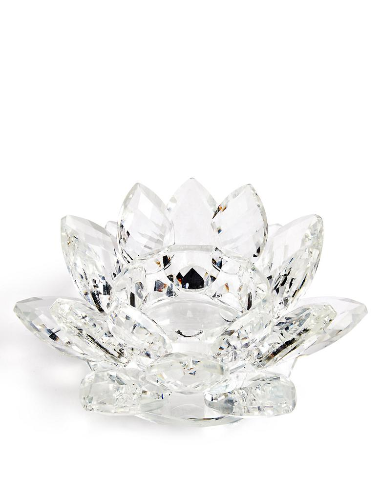 Kristal Çiçek Şeklinde Mumluk