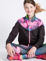 Desenli Fermuarlı Sweatshirt (5 - 14 Yaş)