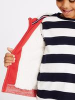 Kırmızı Pamuklu Fermuarlı Sweatshirt (3 Ay - 5 Yaş)