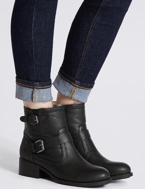 Kadın Siyah Kalın Topuklu Bot