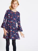 Pamuklu Streç Elbise (3 - 14 Yaş)