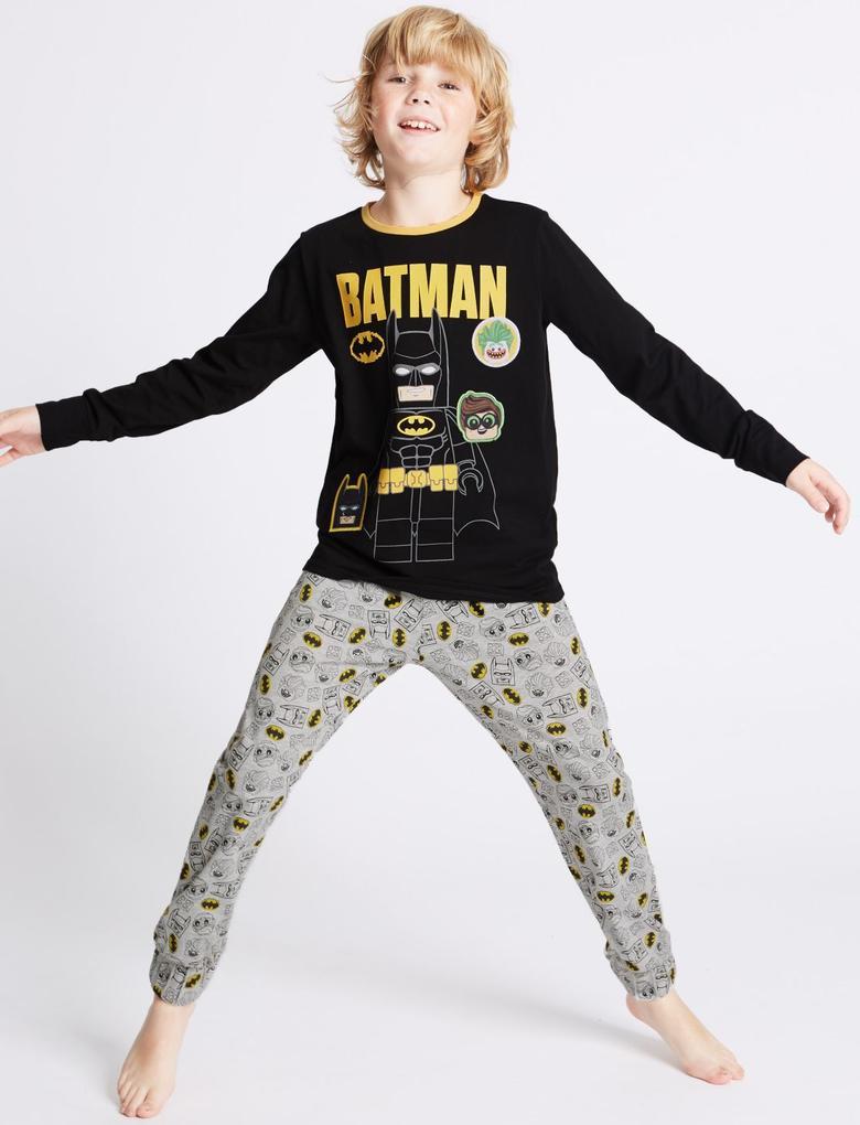 Batman™ Uzun Kollu Pijama Takımı (3 - 14 Yaş)