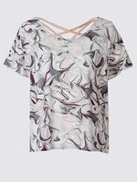 Hızlı Kuruyan Desenli T-Shirt