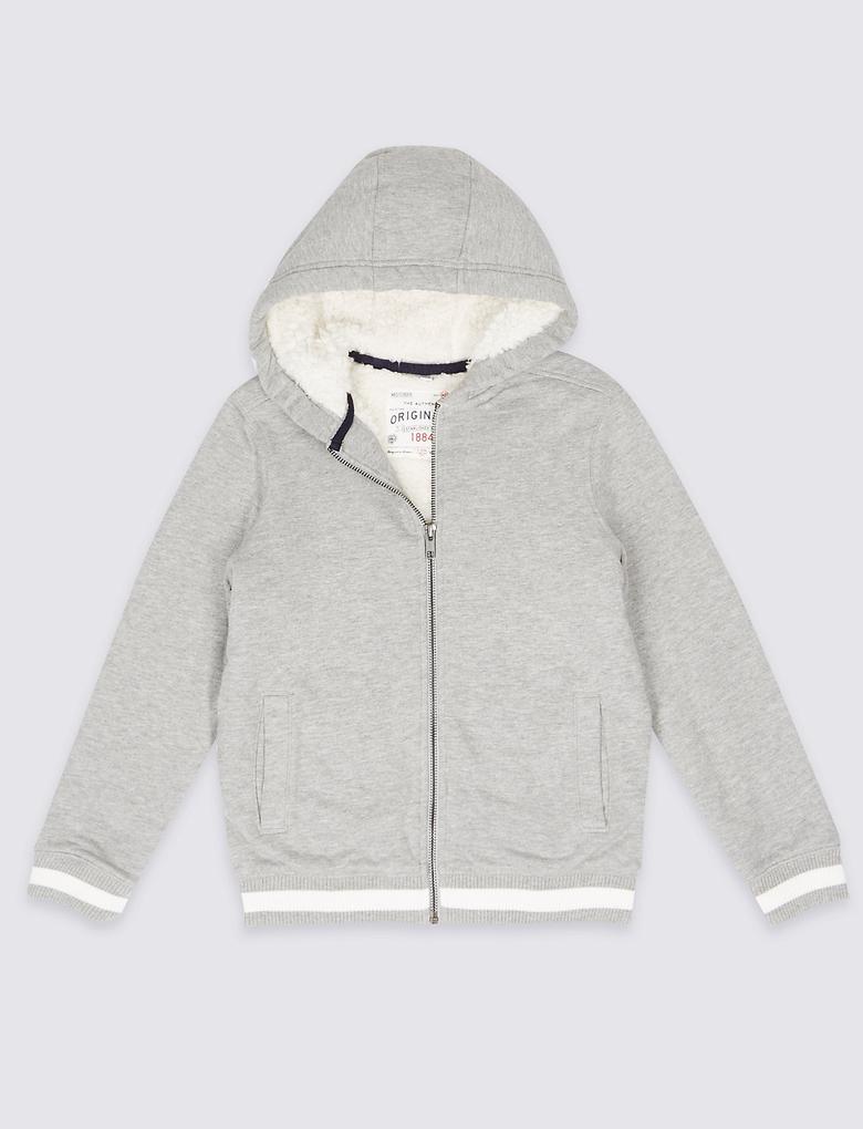 Pamuklu Fermuarlı Sweatshirt (3 - 14 Yaş)