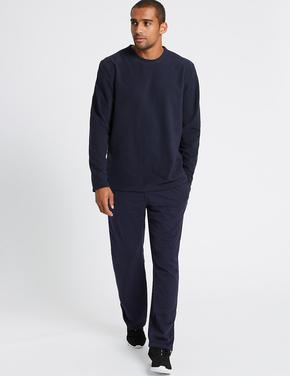 Lacivert Sıfır Yaka Polar Sweatshirt