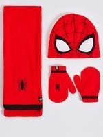 Kırmızı Spiderman™ Atkı, Bere ve Eldiven Seti