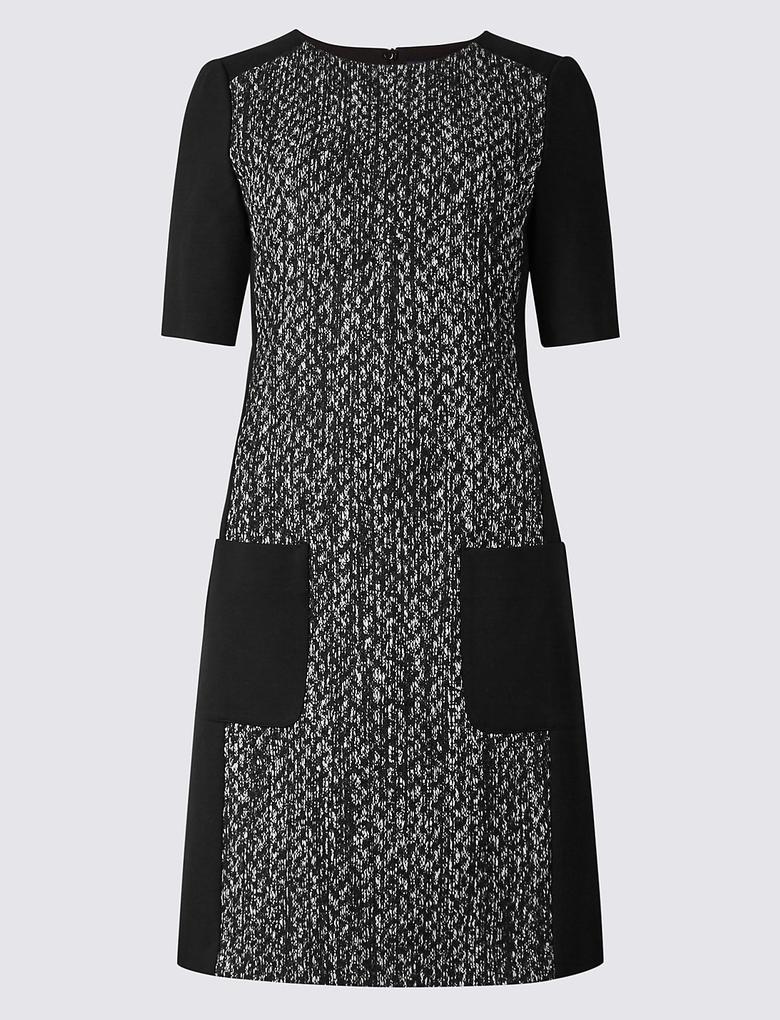 Siyah Yarım Kollu Elbise
