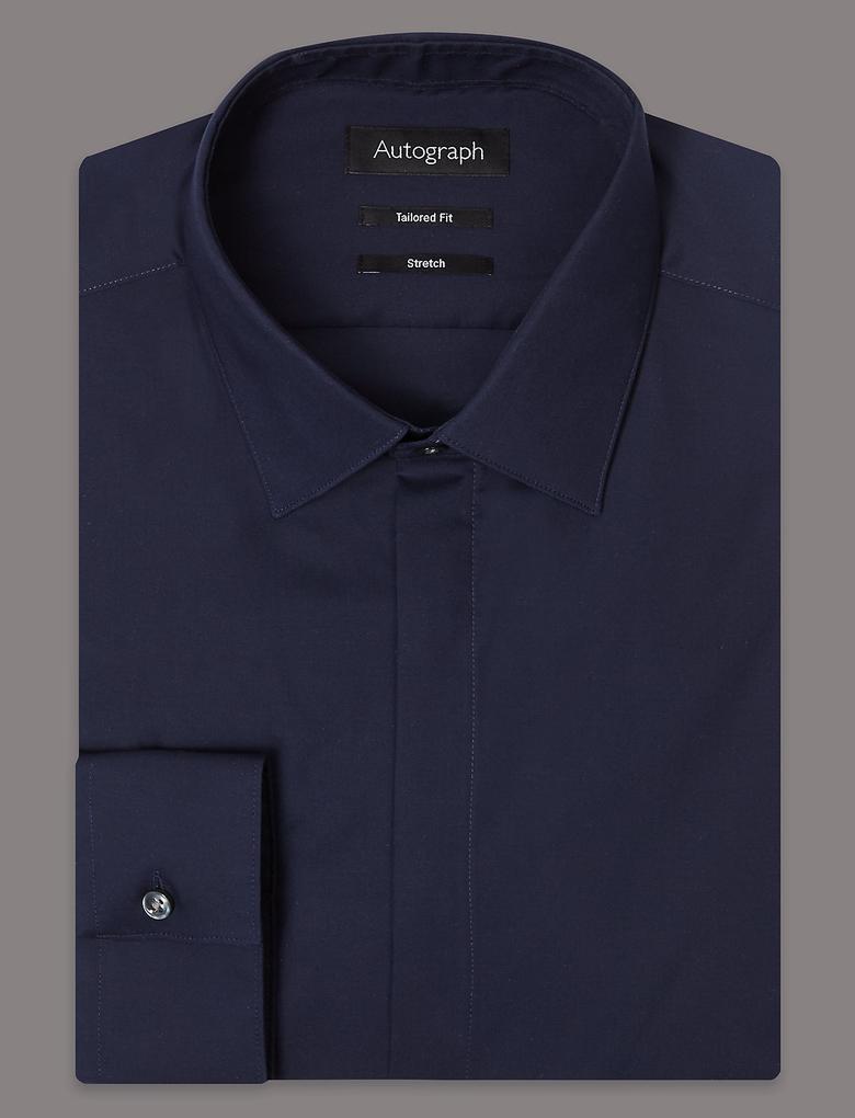 Pamuklu Tailored Fit Streç Gömlek