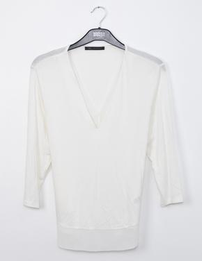 Bej V Yaka T-Shirt