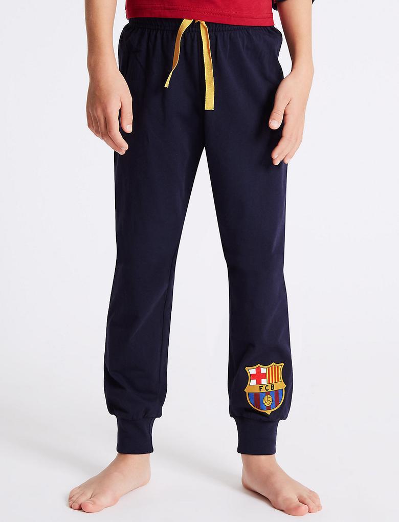 Saf Pamuklu FC Barcelona Pijama Takımı (3 - 16 Yaş)