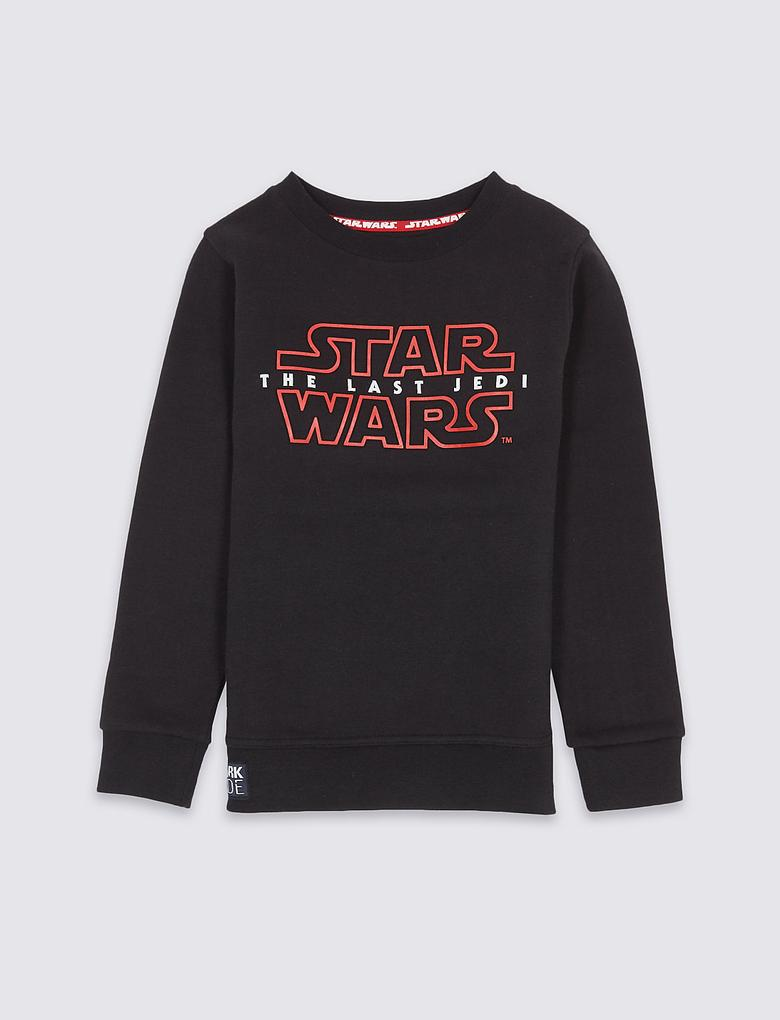 Pamuklu Star Wars Sweatshirt (3 - 14 Yaş)