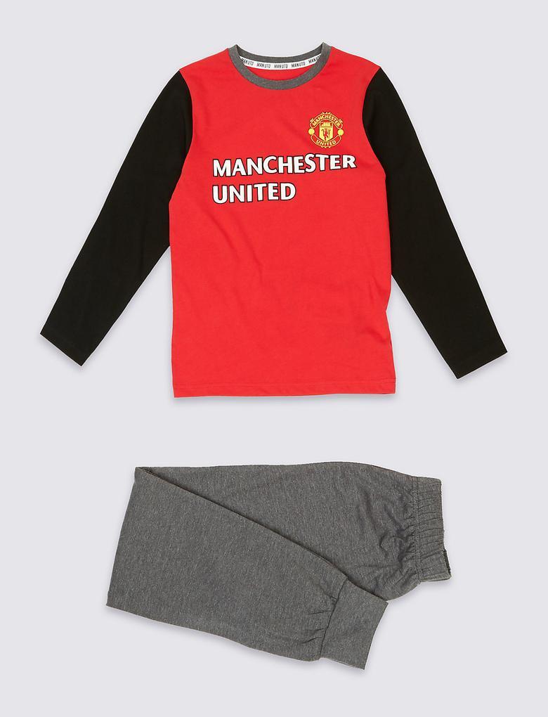 Manchester United Uzun Kollu Pijama Takımı (3 - 16 Yaş)